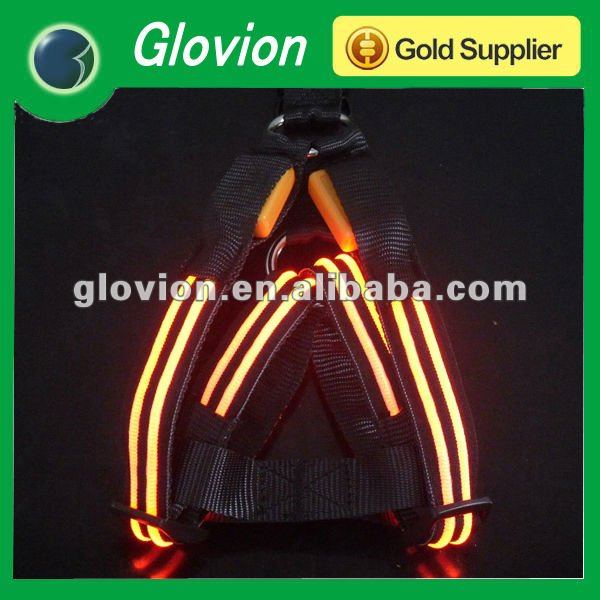 Logo printing Super Cool LED Glow Large Dog Harness weighted dog harness personalized pet harness