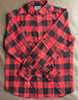 New model stand collar red and black plaid flannel shirt from Yiwu