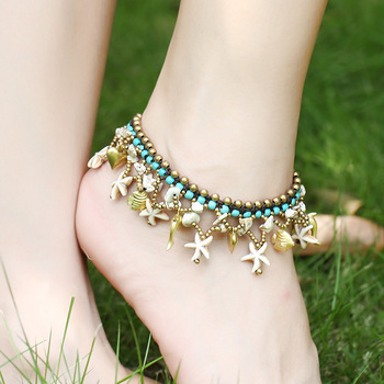 Beach Ornaments Bohemia Starfish And Bell Handmade Fashion Jewelry