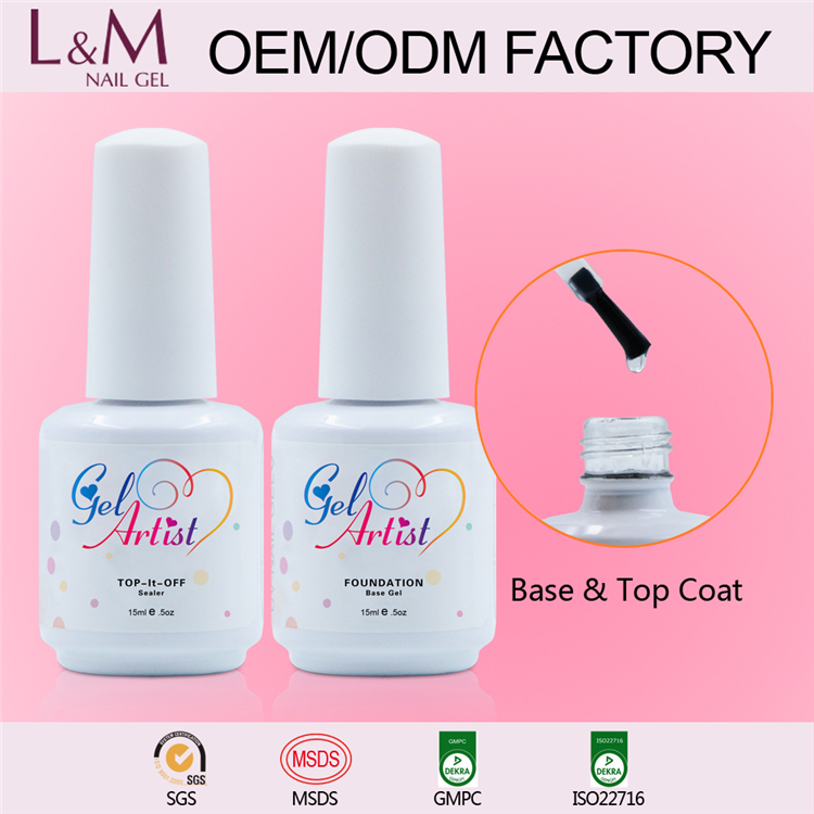 2017 Gelartist Wholesale factory soak off uv transparent lm nail gel color polish