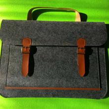 Made in china Custom made cheap high quality laptop bag felt computer case 15.6