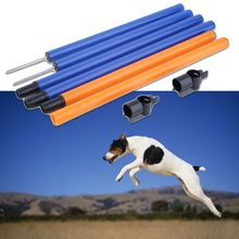 1Pc 105*99CM Pet Agility Dog Training Play Jump Poles Tunnel Bar Outdoor Equipment
