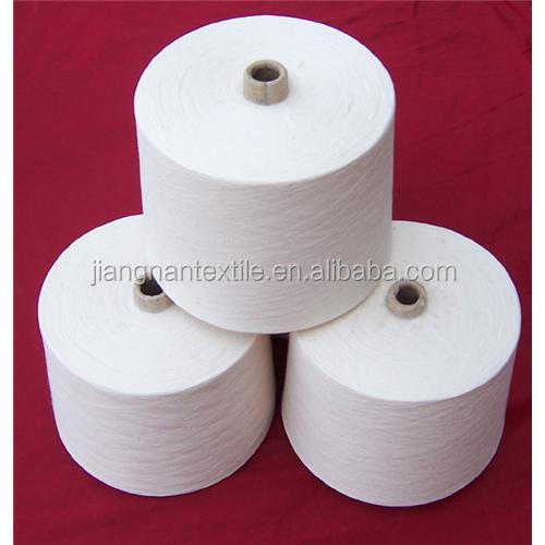 10s to 30s raw white pet bottles recycled polyester spun yarn for knitting and weaving