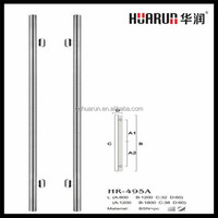 tempered glass door pull handle in office
