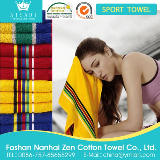 Stripe terry pure cotton colors sport towel
