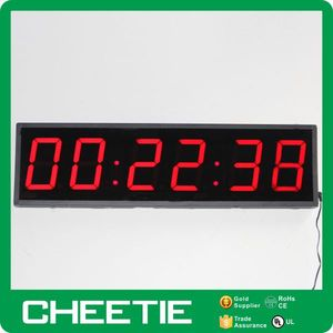 Remote Control 4 Inch 6 Digit Large Temperature Date LED Clock Display