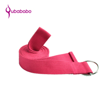 Wholesale Yoga Stretching Belt 100% Cotton D RING YOGA STRAP