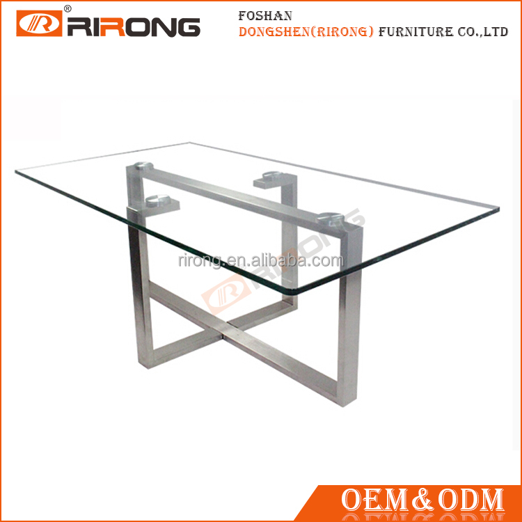 Modern high quality rectangle 10mm tempered glass tea table design