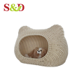 Factory wholesale handmade lovely shape outdoor rattan big dog bed/house