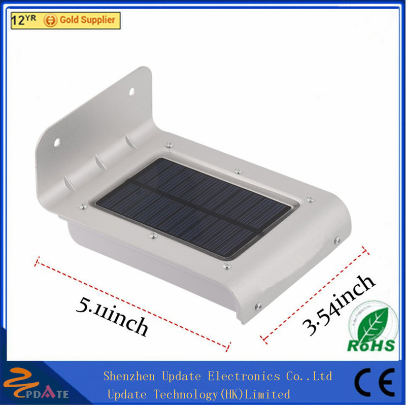 Hot selling Super Bright Motion Sensor Outdoor Wall Mount Lamp Stainless steel+ABS material