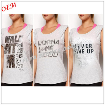 Ladies GYM Yoga Singlet Multi Tank Top Tee