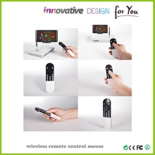 Remote control shaped smart rechargeable Wireless Optical Mouse with usb receiver