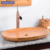 Oval bamboo bathroom basins/sinks for countertop vessel
