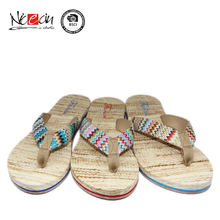 New style girls flat shoes summer sandals hemp rope sandals slipper
