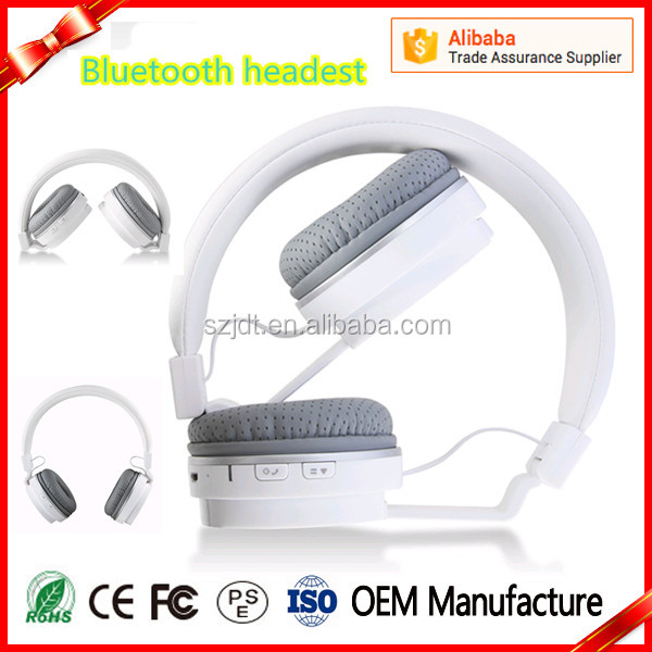 2016 Newest Elegant Foldable Wireless Bluetooth Headset with pinhole Earmuffs and NFC Function
