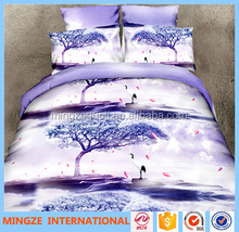 2016 new fashion design 100% polyester 3D bed sheet duvet cover