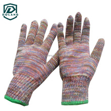 neon color glove anti-scratch knit wholesale safety working gloves