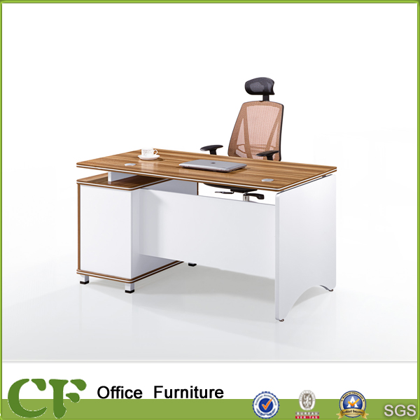 Melamine laminate colored wooden modern executive computer desk for manager room