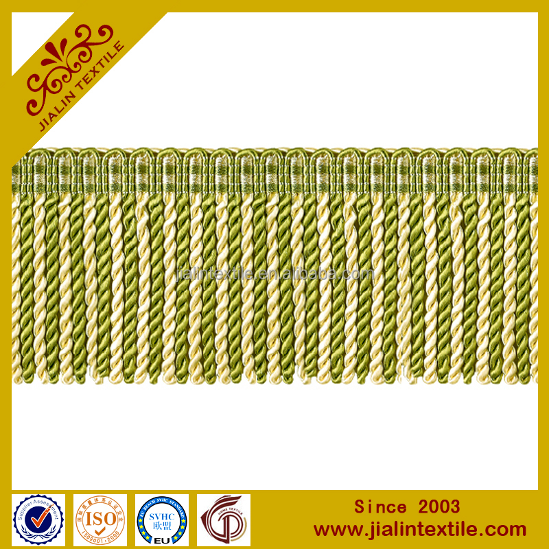 China supplier textiles curtain fringe rayon material bullion fringe