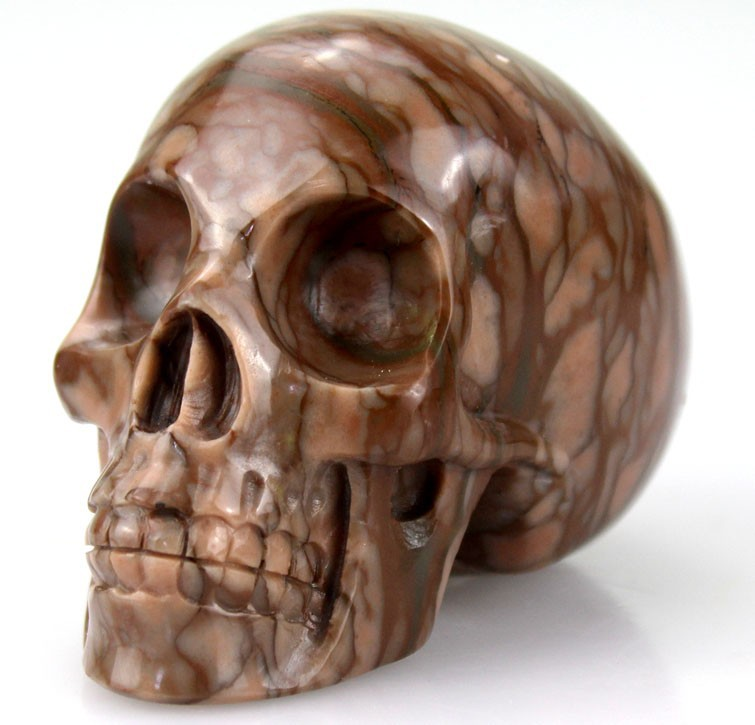 stone carving supplier 3 inch stone skull gift craft