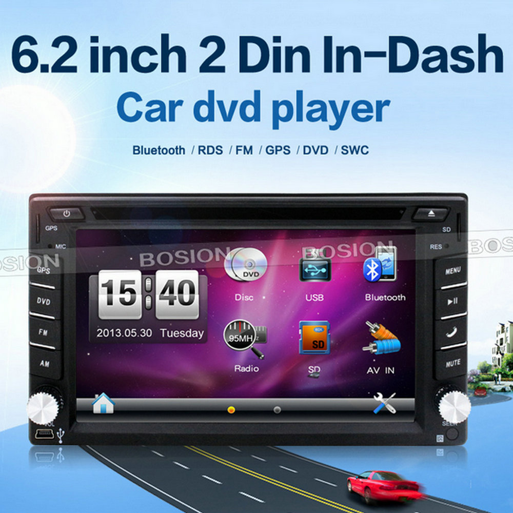 6.2inch Touch Screen DVD GPS Navigation System Car Audio Professional Universal DVD Player for Car