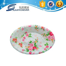 plastic Flower designed plastic storage vegetable melamine serving tray