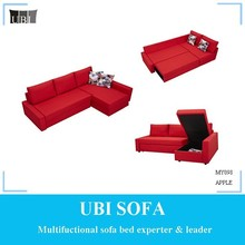 Small corner sofa bed with chaise and storage MY098 APPLE