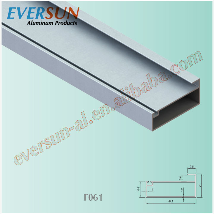 Aluminum profile for sliding wardrobe
