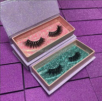 Own Brand Private Label False Eyelash Box Magnetic Lashes Packaging 3D Mink Eyelashes