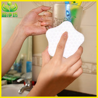 New design star shaped cup washing melamine foam sponge with powerful cleaning effect
