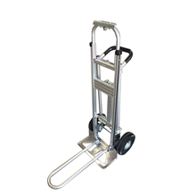 Four wheels foldable push hand trolley truck made in china