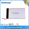 rechargeable 3.7V lipo battery 3600mAh with pcb and connector Li-polymer rechargeable battery pack for electrical warm clothing