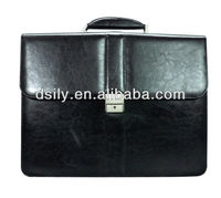 Mens Classic Leather Briefcase Black x8004a130037