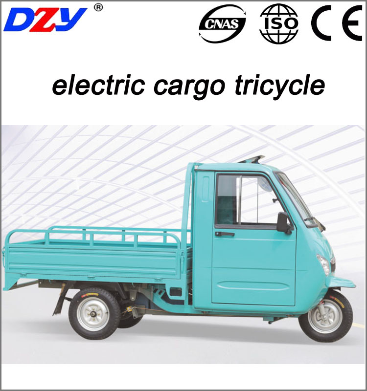 CE Semi closed electric cargo tricycle adult electric trike with cabin