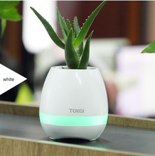 Touching Singing Music Flower Pot Bluetooth Speaker Led Plants