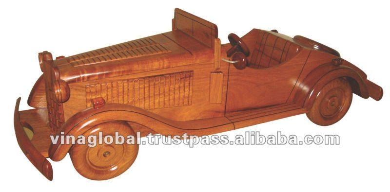 Handmade Wooden Vintager Auto Toy (without hood)