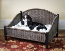 Hottest wicker pet furniture rattan cat bed and rattan dog bed OXP-020