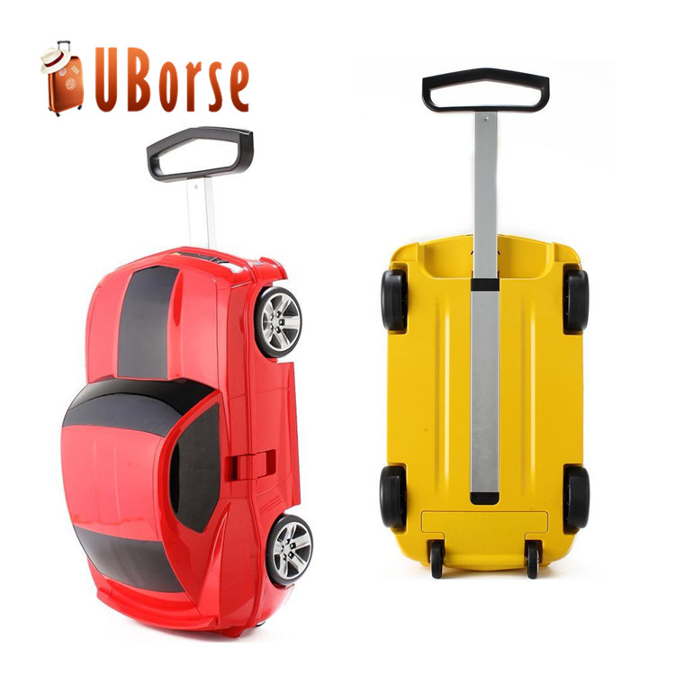 "18"" childrent travel car shape pp trolley luggage and bags"