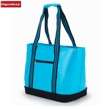 Osgoodway8 Large Insulated waterproof Picnic beach canvas cooler tote bag for camping.BBQ