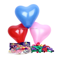 Promotional Latex party decoration colorful heart balloons