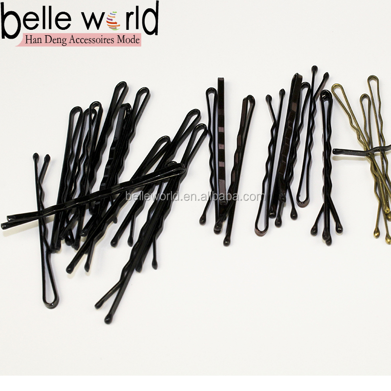 OEM size and packing Brown Waved Hair Bobby Pins Grips Clips