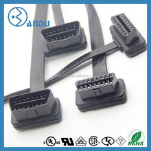 Dongguan supply auto connector 16pin obd2 to micro usb 12 cable for universal car diagnostic equipment