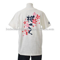 "cotton shirt unisex original in japan ""SAKURA-SAKU"" unique t shirts,japanese cherry blossom"