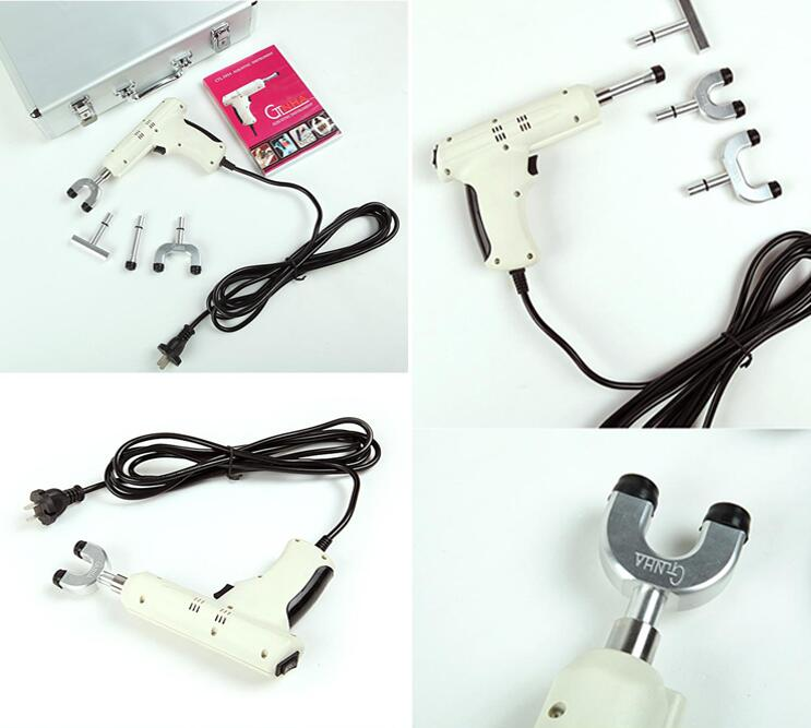 White Electric Chiropractic Adjusting Tool Therapy Spine Activator Correction Massager
