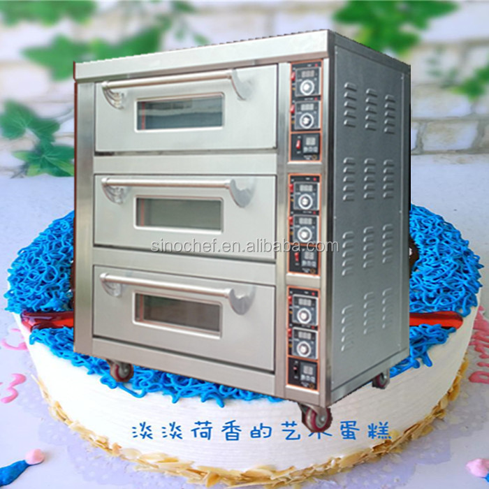 New 3 Deck 3 Trays Electric Cake Bread Baking Oven With Timer