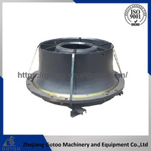 Mn18 cone crusher bowl liner for mobile crusher