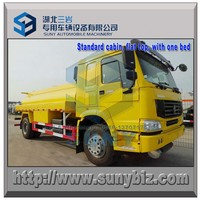 12 cbm SINOTRUK HOWO 4x4 all wheel drive fuel tanker truck 6 standard tires type, or 4 off road tires