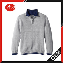 kids' boy's fashion knitted pullover with 1/4 zip neck