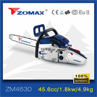 Two stroke cylinder engine chainsaw with CE