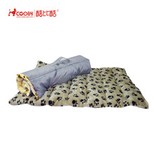 Expandable Foldable Washable Travel pet sleeping mat with paw prints